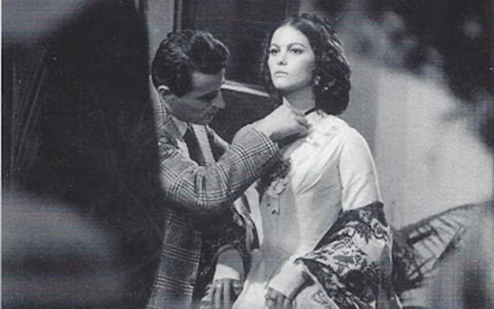 Tosi con la Cardinale sul set del film Il Gattopardo