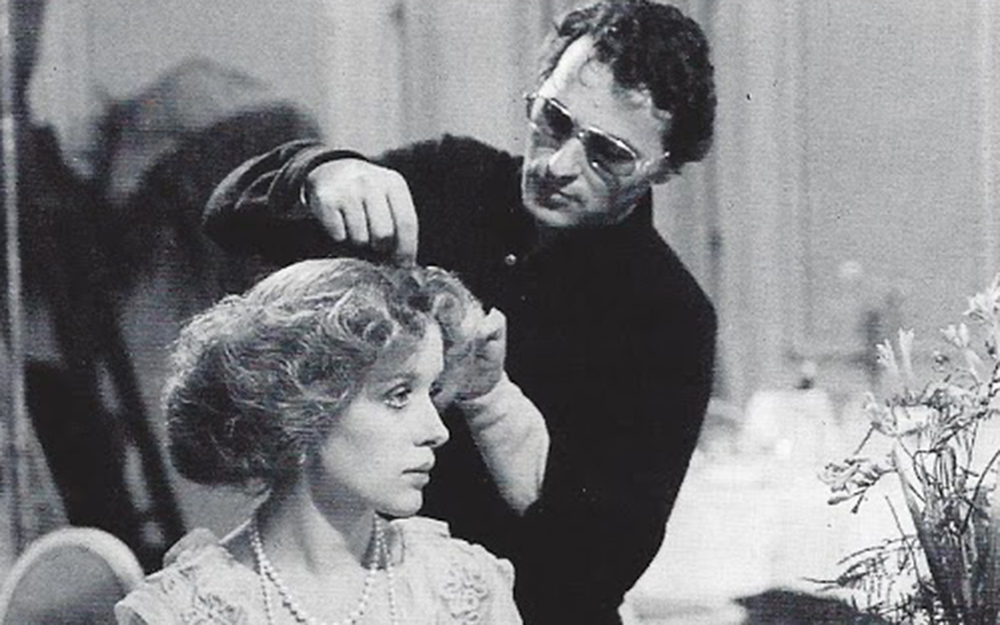 Tosi con Dominique Darel sul set del film Morte a Venezia