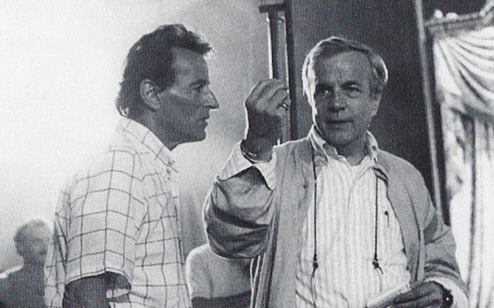 Tosi con Zeffirelli sul set del film La Traviata