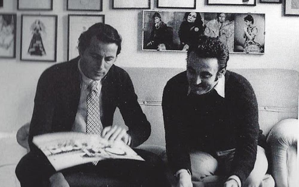 Piero Tosi con Umberto Tirelli.