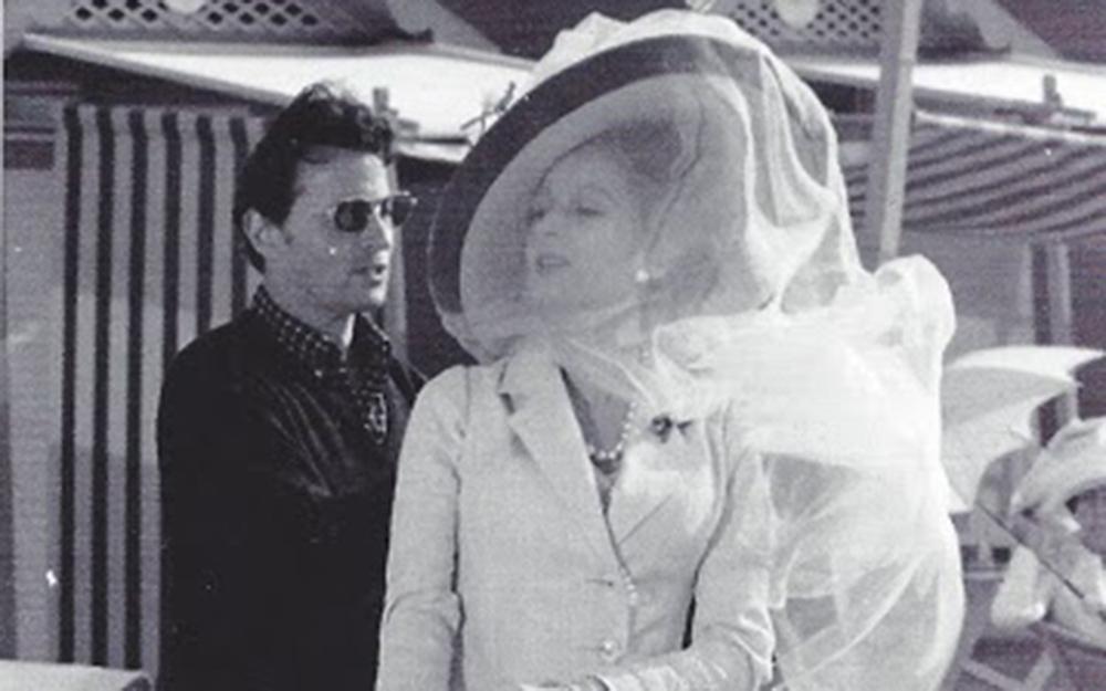 Tosi e Silvana Mangano sul set di Morte a Venezia.